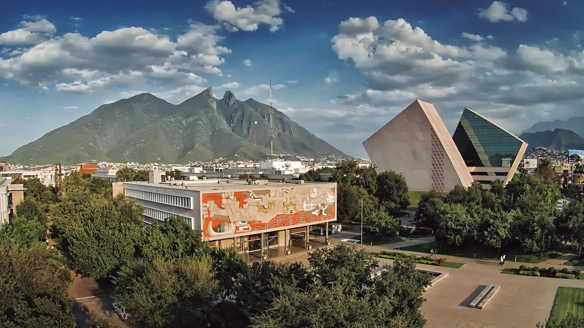 Vista panorámica de la ciudad de Monterrey en Nuevo León