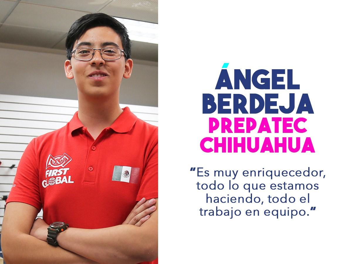 Ángel, miembro del equipo mexicano que competirá en el FIRST Challenge 2018.