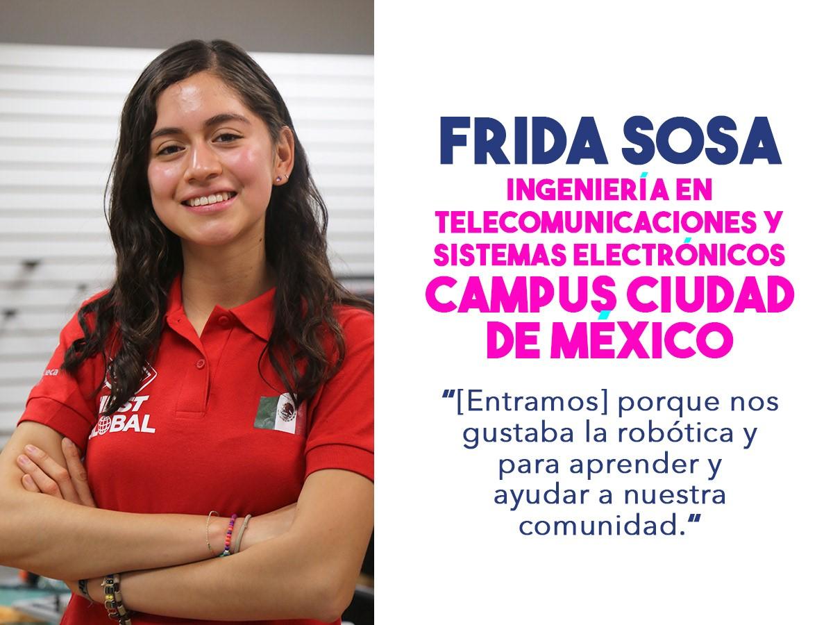 Frida Sofía, miembro del equipo mexicano que competirá en el FIRST Challenge 2018.