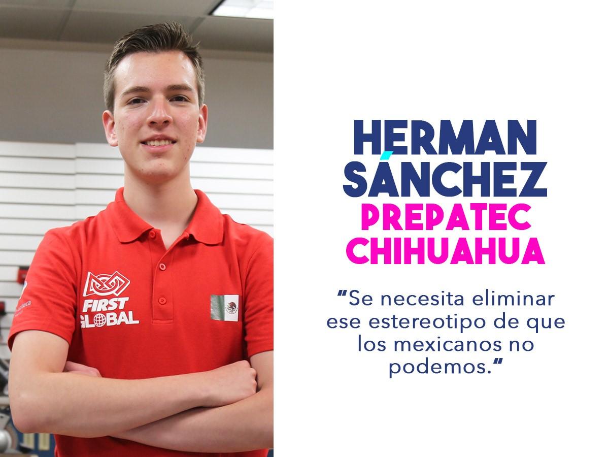 Herman, miembro del equipo mexicano que competirá en el FIRST Challenge 2018.