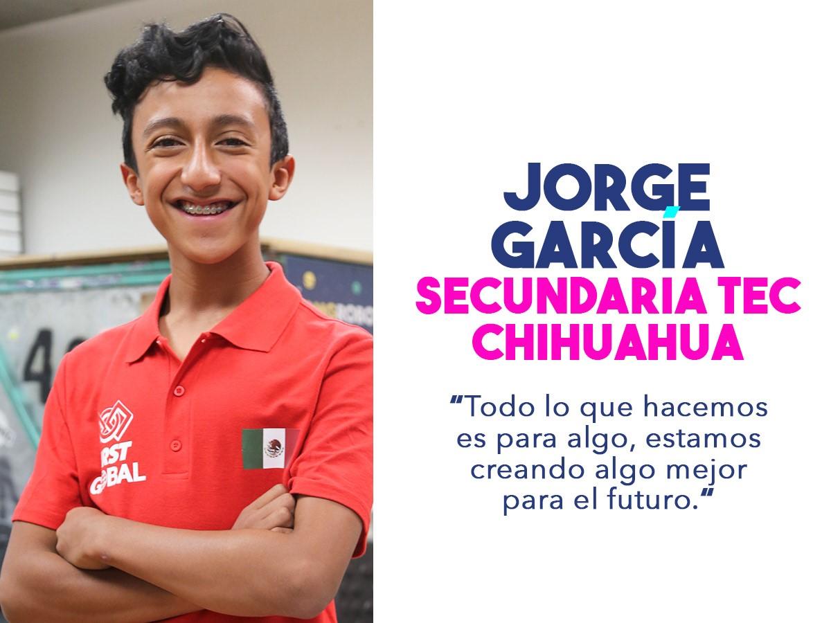Jorge, miembro del equipo mexicano que competirá en el FIRST Challenge 2018.
