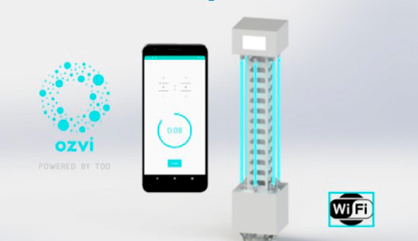 OZVI dispositivo inteligente capaz de sanitizar espacios