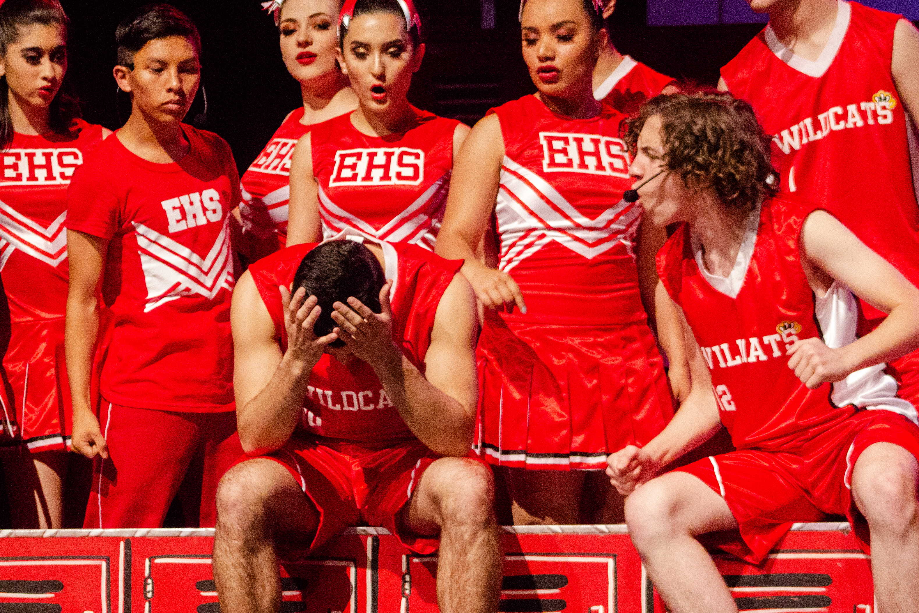 José Pablo en el musical High School Musical