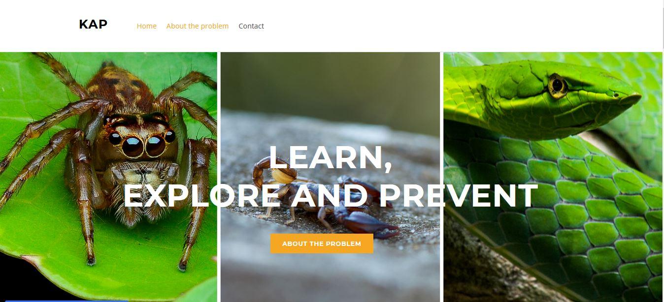 App que identifica especies diversas especies de arañas, alacranes y serpientes