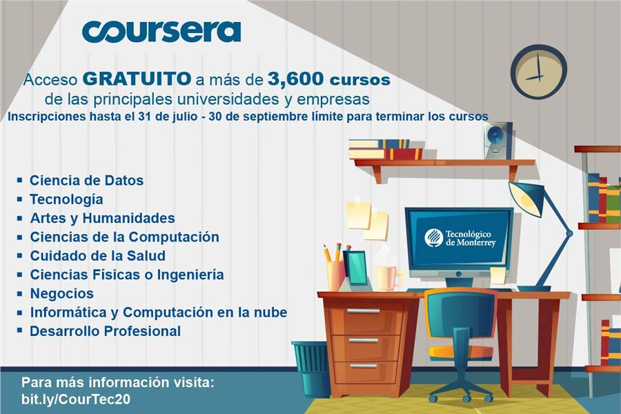 If You Re From Tec You Have Access To 3 000 Free Courses On Coursera Tecnologico De Monterrey