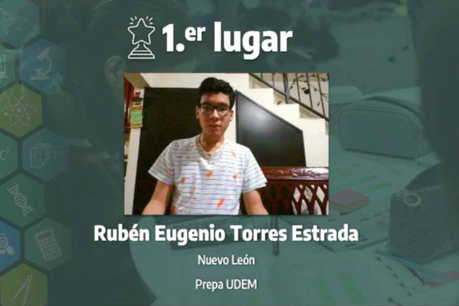 Rubén Torres,, winner of the biology category, 16th International Science Contest