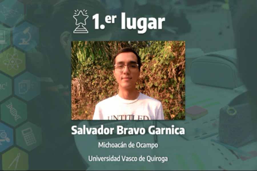 SalvadorBravo,, winner of the computing category, 16th International Science Contest