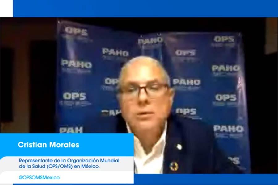 Cristian Morales es representante de la OMS en México.