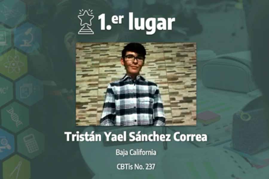Tristán Sánchez, winner of the Physics category, 16th International Science Contest