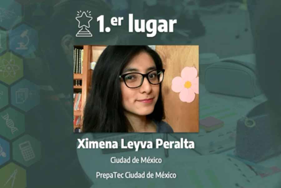 Ximena Leyva,, winner of the chemistry category, 16th International Science Contest