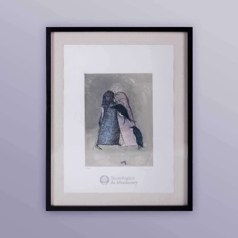 Dos figuras con cuervos de Leonora Carrington
