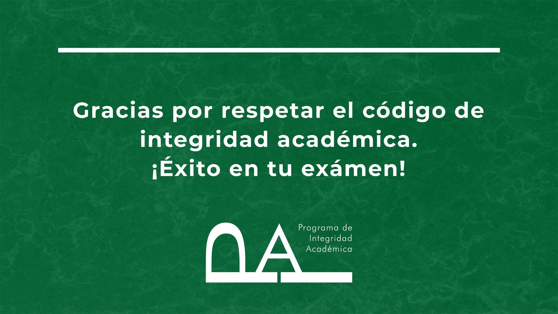 Cartel Proyección en salón de clases del Programa de Integridad Académica del Tec de Monterrey