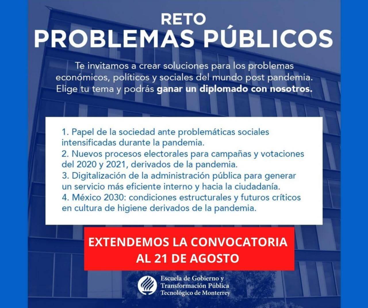 Convocatoria Reto Problemas Publicos