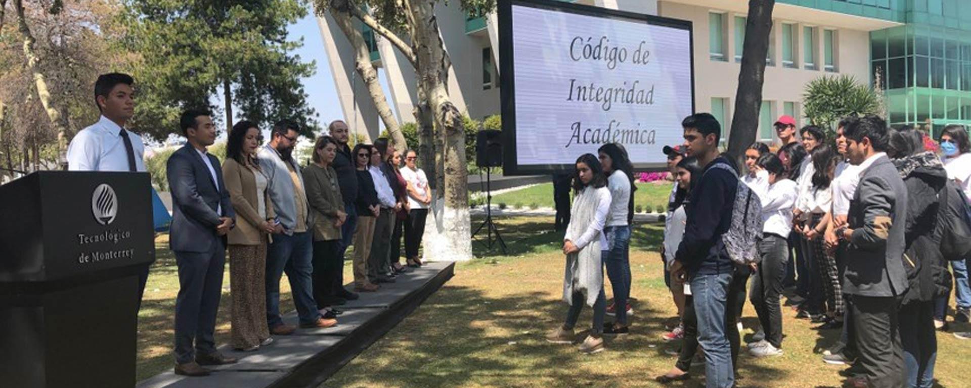 Ceremonia del lanzamiento del Código de Integridad Académica en el Campus Hidalgo del Tec de Monterrey