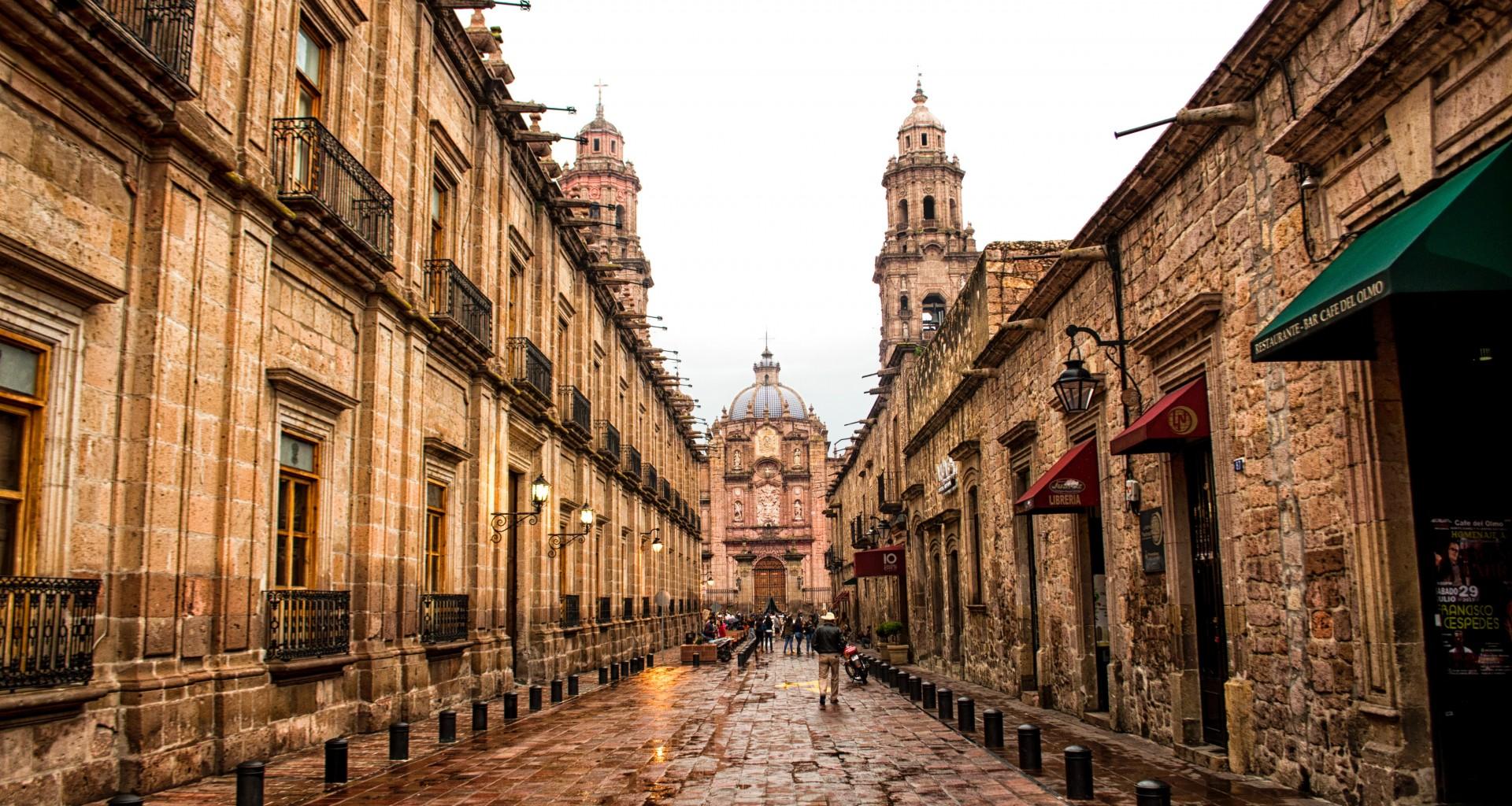 Centro Histórico de Morelia, de los centros históricos de México más bellos.